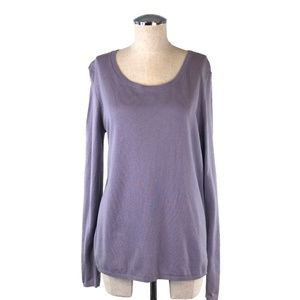 NWT LOFT Lavender Scoop Neck Knit Sweater #AA5